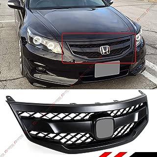 Fits for 2011-2012 Honda Accord 4 Door Sedan Matt Satin Black JDM Sport Style Mesh Front Bumper Grill Grille