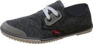 Han's Women's Color Block Minimalist Low Profile Fashion Trainer Plimsoll Sneaker