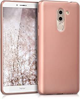 kwmobile TPU Silicone Case for Huawei Honor 6X / GR5 2017 / Mate 9 Lite - Soft Flexible Shock Absorbent Protective Phone Cover - Metallic Rose Gold