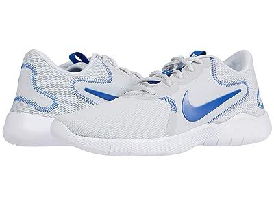 Nike Flex Experience Run 9 (Pure Platinum/Game Royal/White) Men