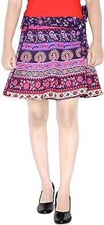 Indian Dresses Store Rajvila Rajasthani Wrap Around Skirt for Women Mini for Skirt P3 Purple