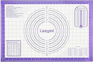 Lazymi Tapis de Cuisson en Silicone Anti-adhésif, Grande Feuille à Patisserie Four Réutilisable, Tapis de Pâte Sucre à Rou...