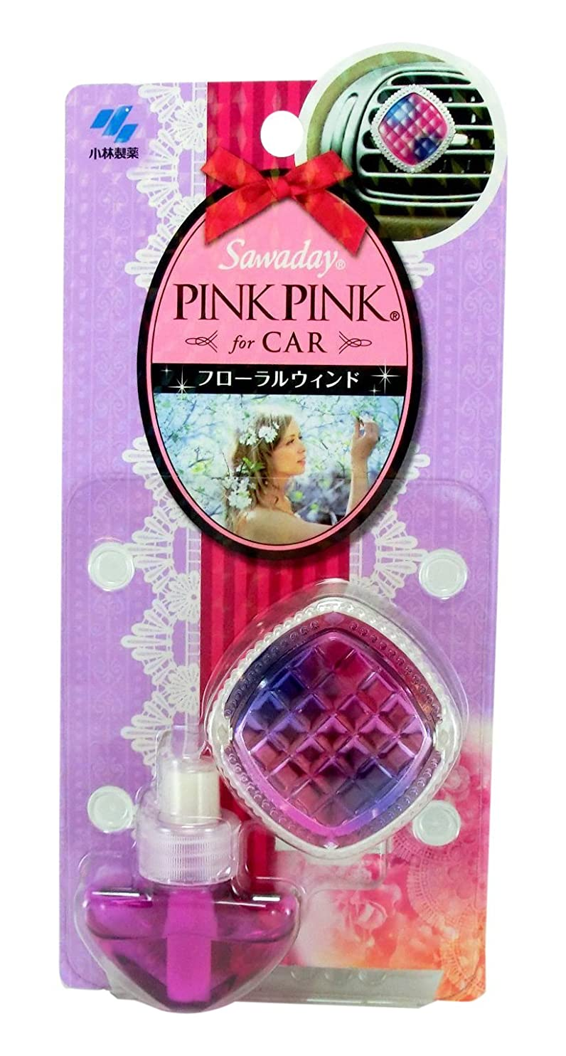 世界記録のギネスブック耳確かなサワデーピンクピンク 消臭芳香剤 クルマ用 本体 フローラルウィンド (使用期間目安 約1ヶ月)