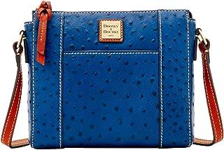 Ostrich Lexington Crossbody Bag, Marine Blue
