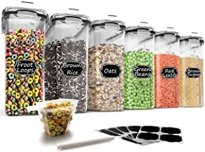 Large Cereal & Dry Food Storage Containers, Wildone Airtight Cereal Storage Containers for Sugar, Flour, Snack, Baking Sup...