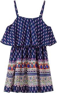 e1df6f8fdbd82 Okayit Big Girls Dress Summer Boho en Mousseline De Soie À Volants Enfants  Dress Adolescentes Filles