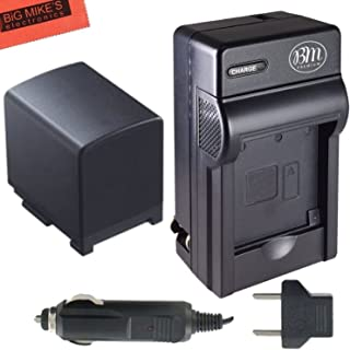Big Mike's Replacement BP-819 Battery and Charger Kit for Canon Vixia HG20 HG21 HFS10 HFS11 HFS20 HFS21 HFS30 HFS100 HFS200 HF11 HF20 HF21 HF200 Camcorder + More!!