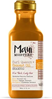 Maui Moisture Curl Quench + Coconut Oil Curl-Defining Anti-Frizz Shampoo to Hydrate and Detangle Tight Curly Hair, Softening Shampoo, Vegan, Silicone- & Paraben-Free, 13 fl oz