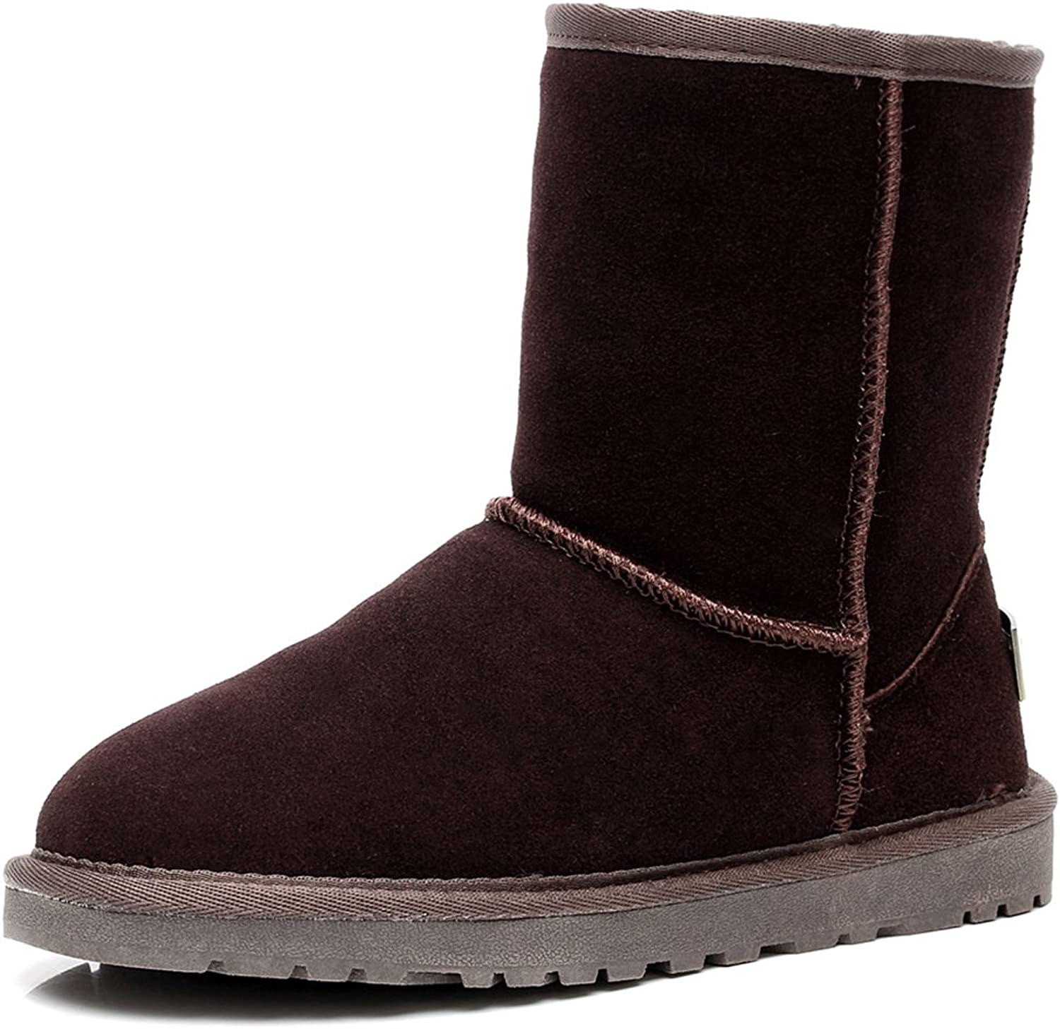Rismart Women Classic Mid-Calf Faux Fur Lined Suede Snow Boots Many colors Available