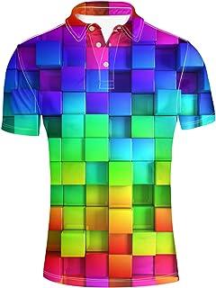 HUGS IDEA Fashion Adult Men's Casual Aloha Shirt Short Sleeve Top Tees