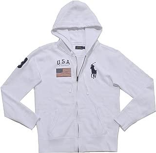 Womens Full-Zip Big Pony Hoodie Sweatshirt