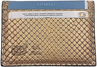 Porta carte di credito e tesserre in Pitone (Oro metal)