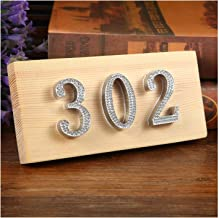 Exquisite and durable Poort cijfers Rhinestone Nummer Tag Cijfer Deur Plaque House Lade Sign Plating Hotel Home Office Sti...