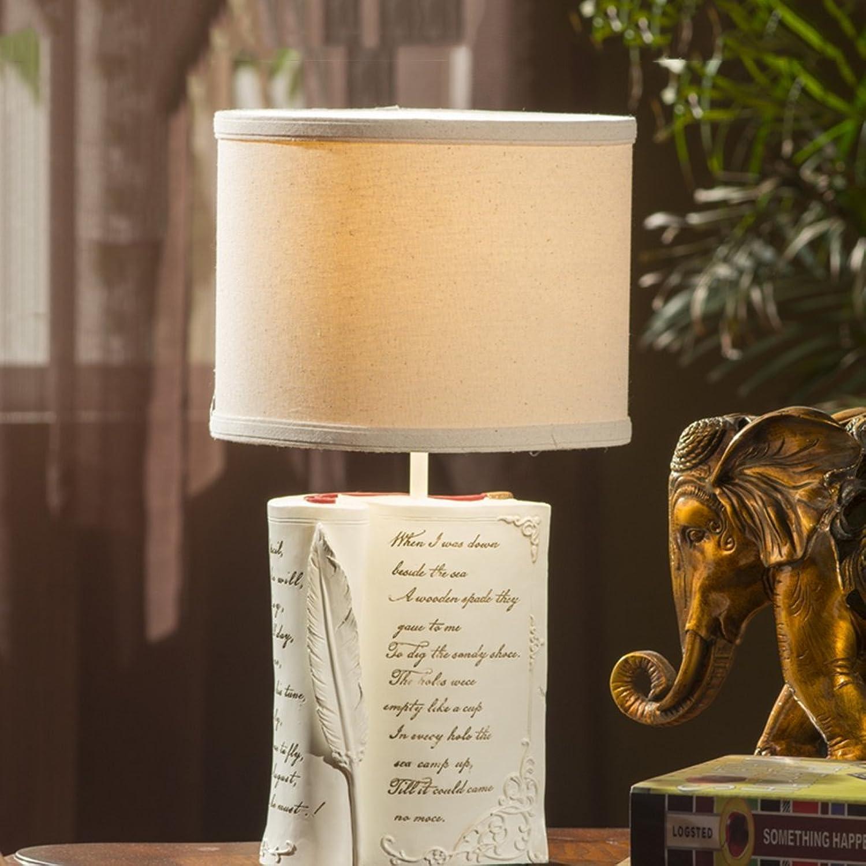 Guo Kreative Europäische Europäische Europäische Stil Lampe Wohnzimmer Schlafzimmer Nachttischlampe Harz Buch Lampe Tischleuchte E27  1 B01N2M9N3M | Starke Hitze- und Abnutzungsbeständigkeit  a7999b