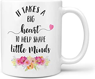 Teacher Mug, It Takes A Big Heart To Help Shape Little Minds