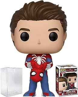 Funko Pop! Marvel: Spider-Man Video Game - Unmasked Spider-Man (Peter Parker) Vinyl Figure (Bundled with Pop Box Protector Case)