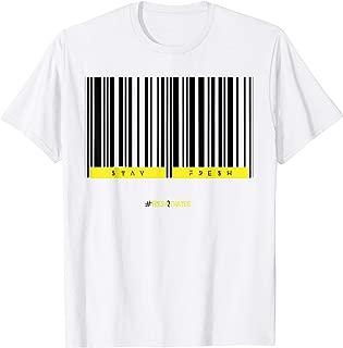 barcode shirt made to match jordan 1 first class flight T-Shirt