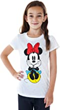 Disney Girl's T-Shirt Minnie Mouse Front and Back Choose Print