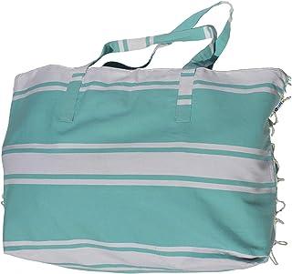 Just a Joy Just a Joy - Extra große Strandtasche - Hamam Design - Ibiza Blau