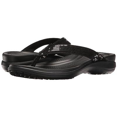 Crocs Capri V Sequin (Black) Women