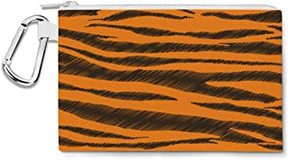 Tigger Stripes Winnie The Pooh Inspired Canvas Zip Pouch - Multi Purpose Pencil Case Bag