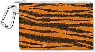 Tigger Stripes Winnie The Pooh Inspired Canvas Zip Pouch - Multi Purpose Pencil Case Bag