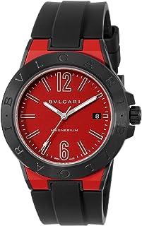 [ブルガリ] 腕時計 ディアゴノマグネシウム レッド文字盤 DG41C9SMCVD/SP メンズ 並行輸入品 ブラック