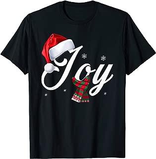 Christmas Joy Santa's Hat Tee Family Xmas Holidays Gift T-Shirt