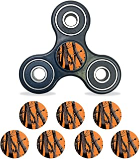 MightySkins Vinyl Decal Skin Compatible with Fidget Spinner Center Cap – Orange Camo | Protective Sticker Wrap for Your Fidget Toy Bearing Cap | Easy to Apply Cover