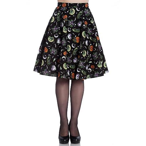 9b8cdd8c11f5d 50s Rockabilly Skirt: Amazon.co.uk