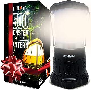 فانوس کمپینگ LED Monster International Internova - باتری - روشنایی گسترده - ایده آل برای طوفان - کمپ - کیت اضطراری