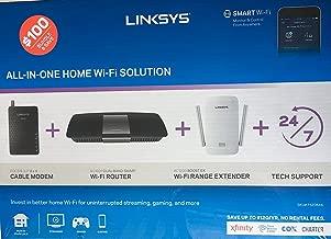 Linksys AC1600 Wi-Fi Wireless Dual-Band + Linksys CM3008 High Speed DOCSIS 3.0 8x4 Cable Modem