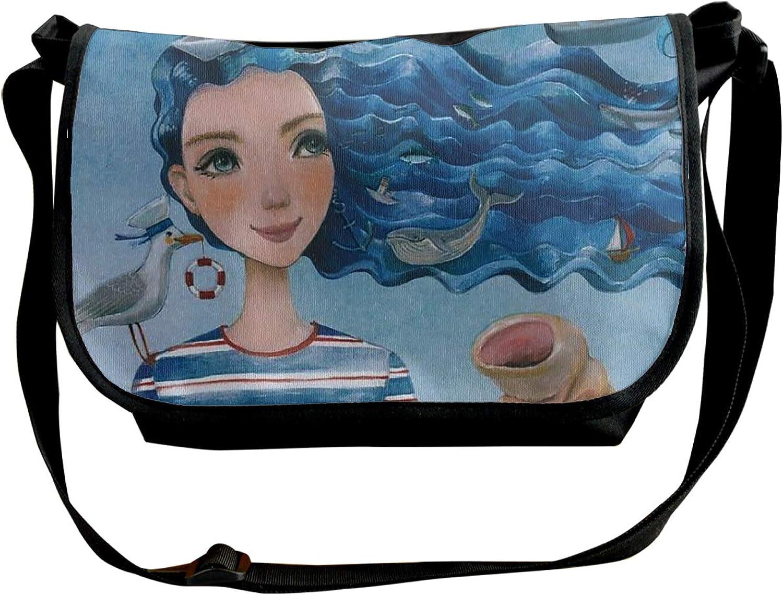 4f2495a11db4 Pack Mermaid Travel Satchel School Bag for Men Single Shoulder ...