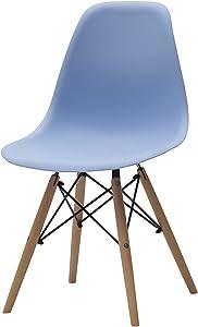 White loft Möbel für alle LF480Set von 4Stühle zeitgenössisch 46,5x43x83 cm hellblau