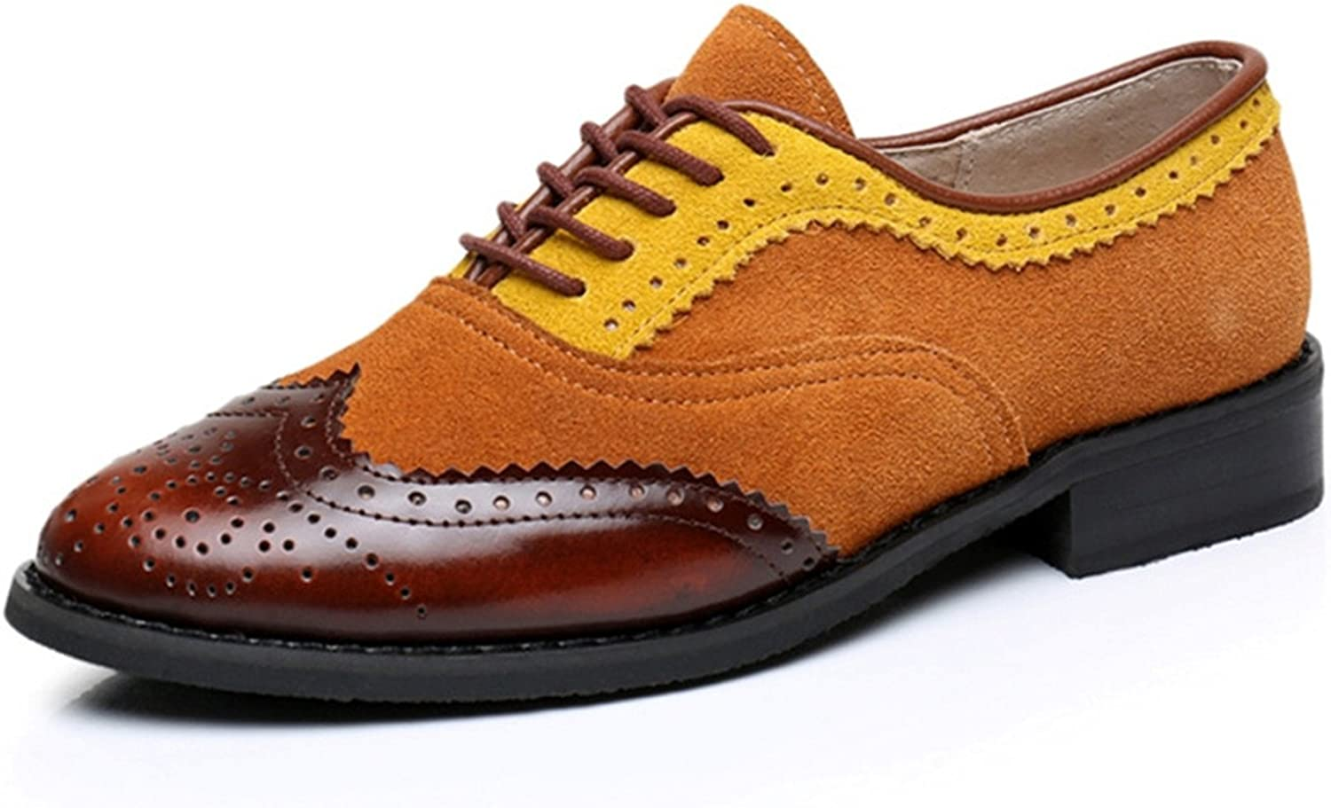 Mandaartins Women Genuine Leather Oxford shoes Flats Handmade Vintage Lace up Loafers Sneakers