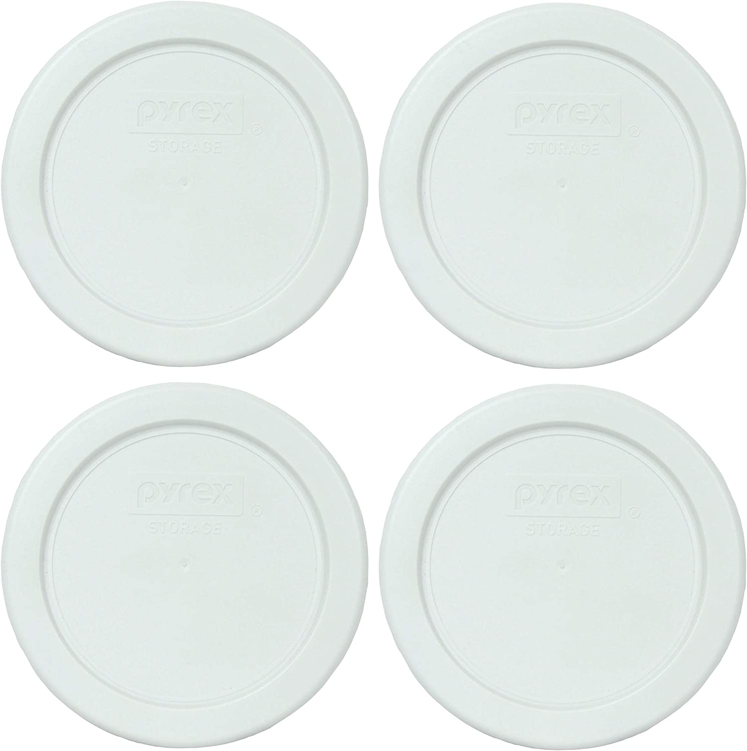 Pyrex 7202-PC White Round Philadelphia Mall Plastic Storage Lids Replacement Fixed price for sale Food