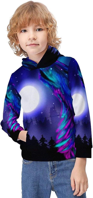 ODOKAY Unisex Kids Hooded Stretchy Pullover Hoodie Boys Girls Sweatshirt Children's Long Sleeve Christmas Hoodies