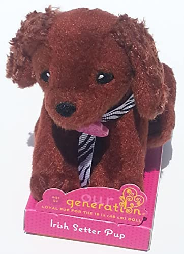 Our Generation Doll Small Dog Collection Plush  Irish Setter by Our Generation