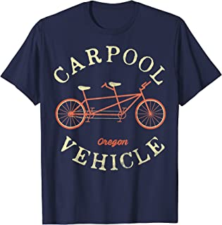 Oregon Carpool Vehicle Tandem Bike Vintage T-Shirt