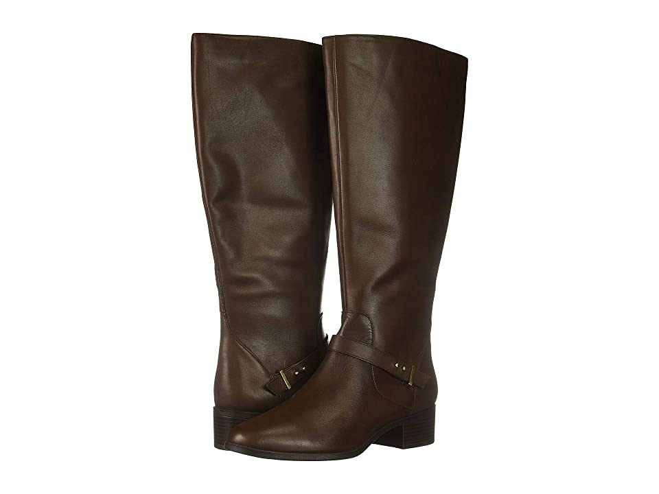 Bandolino Bloema Wide Calf Boot (Hickory Leather) Women
