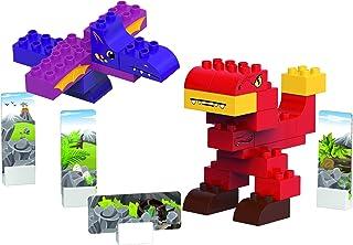 BiOBUDDI BB0187 Dinosaurs-T-Rex Building Blocks, Multi-Coloured