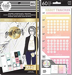 Classic Happy Planner Accessories Goals & Habits Set - Goal Getter Accessory Book and Habit Tracker Half Sheets - 2 MAMBI Items