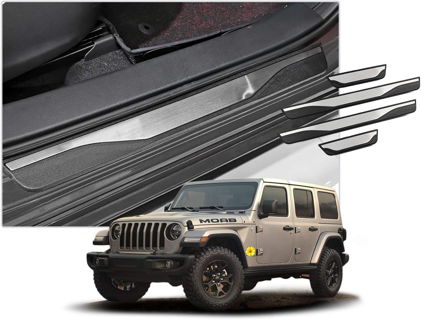 Branded goods CDEFG 5% OFF 4PCS Car Door Sill for Plates Protector Scuff G