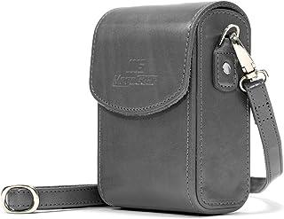 """MegaGear """"Ever Ready"""" läder kameraväska med rem för Samsung WB350F grå"""