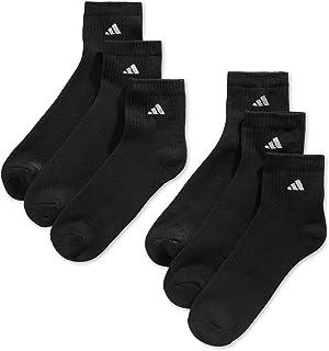 6 Pair Mens Quarter Crew Cushioned Socks Shoe Size 6-12...