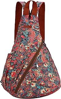 BAOSHA Women's Colorful Sling Bag Crossbody Backpack Shoulder Casual Daypack Outdoor Travel Hiking XB-10 (HS, Dual Shoulder)