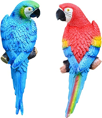 wholesale 2 high quality Packs Resin Parrot Garden Decor Animal Lawn Figurine Landscape Ornament Patio Yard Decoration Outdoor Garden high quality Sculptures & Statues Kids Toys Wall Hanging Decoration outlet sale
