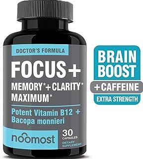 Brain Focus Booster, Memory & Clarity Booster, Nootropic Energy Pills & Brain Supplement Boost for Mental Concentration, Neuro Peak & IQ Focus, Rhodiola Rosea Bacopa Monnieri Ginkgo Biloba DMAE