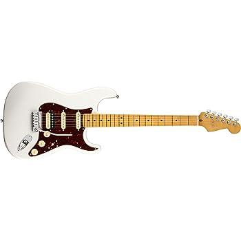Fender American Ultra Stratocaster HSS MN Arctic Pearl w/Hardshell Case