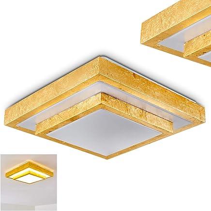 Amazon.es: plafon techo led dorado: Iluminación